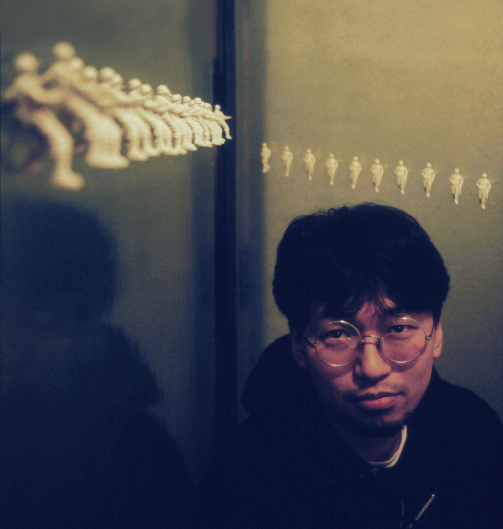 Takashi Murakami at Galerie Mars 1992_photo by Ithaka Darin Papp